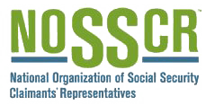 Logo Recognizing Keefe Disability Law's affiliation with NOSSCR